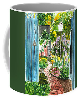 Coffee Mug featuring the painting Spring Garden by Clara Sue Beym
