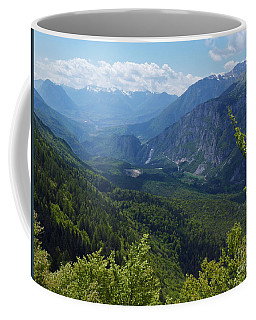 Coffee Mug featuring the photograph Spring Green In The Dolomites by Phil Banks