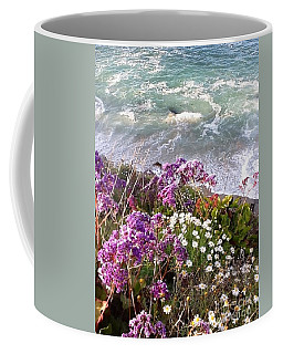Coffee Mug featuring the photograph Spring Greets Waves by Susan Garren