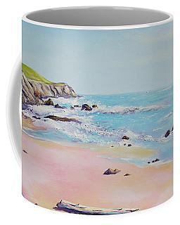 Spring Hills And Seashore At Bowling Ball Beach Coffee Mug