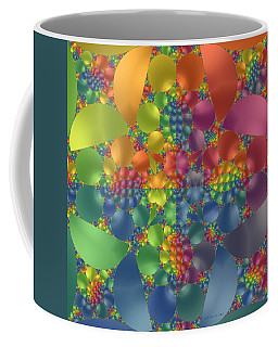 Coffee Mug featuring the digital art Spring Promises Fractal by Judi Suni Hall