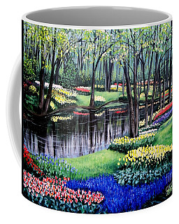 Coffee Mug featuring the painting Spring Spendor Tulip Garden by Patricia L Davidson