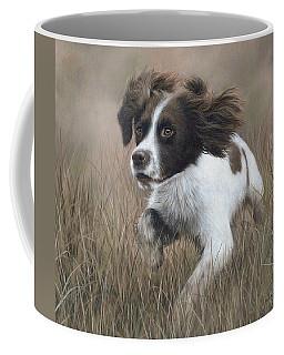 Springer Spaniel Painting Coffee Mug by Rachel Stribbling