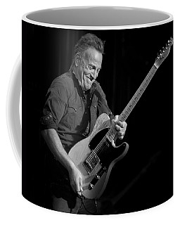 Coffee Mug featuring the photograph Springsteen Shreds Bw by Jeff Ross