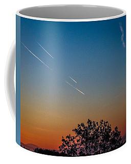 Squadron Of Jet Trails Over Ireland Coffee Mug