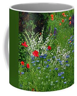 Squarely Spring Floral Garden Coffee Mug
