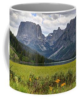 Squaretop Mountain And Upper Green River Lake  Coffee Mug