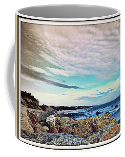 Squibby Cliffs And Mackerel Sky Coffee Mug by Kathy Barney