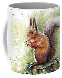 Squirrel Watercolor Art Coffee Mug