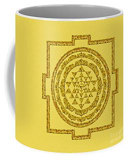 Sri Yantra In Gold Coffee Mug