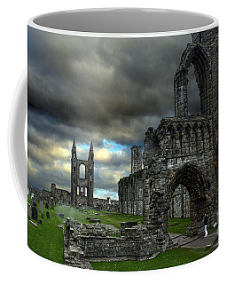 St Andrews Cathedral And Gravestones Coffee Mug