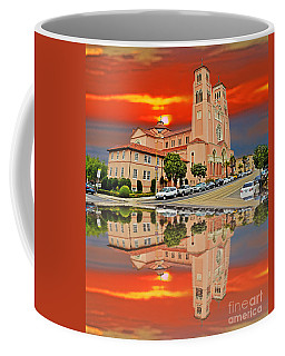 St Anne Church Of The Sunset In San Francisco With A Reflection  Coffee Mug