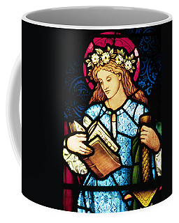 St Catherine Of Alexandria In Stained Glass Coffee Mug
