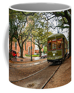 St. Charles Ave. Streetcar In New Orleans Coffee Mug