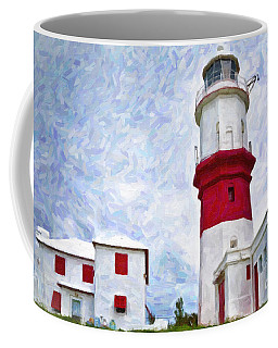 Coffee Mug featuring the photograph St. David's Lighthouse by Verena Matthew