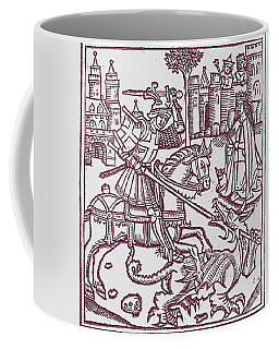 St. George - Woodcut Coffee Mug