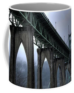 St Johns Bridge Oregon Coffee Mug by Bob Christopher