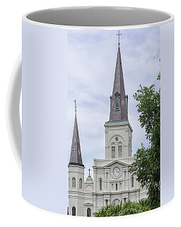 St. Louis Cathedral Through Trees Coffee Mug