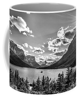 St. Mary Lake Bw Coffee Mug