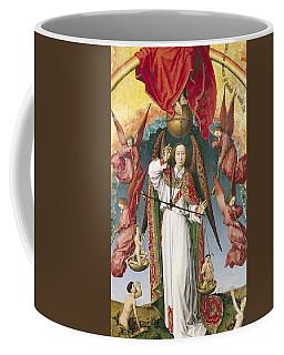St. Michael Weighing The Souls, From The Last Judgement, C.1445-50 Oil On Panel Detail Of 170072 Coffee Mug