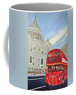 St. Paul Cathedral And London Bus Coffee Mug