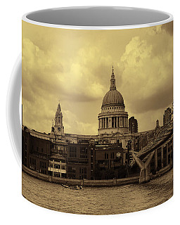 St Paul's Cathedral And Millennium Bridge London Coffee Mug by Nicky Jameson