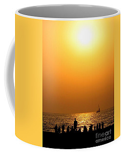 St. Petersburg Sunset Coffee Mug by Peggy Hughes