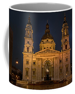St Stephen's Basilica Budapest Night Coffee Mug