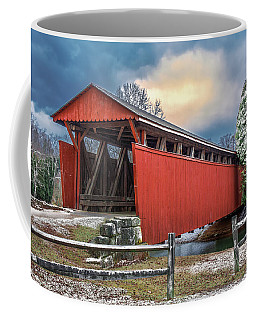 Staats Mill Covered Bridge Coffee Mug by Mary Almond