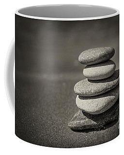 Stacked Pebbles On Beach Coffee Mug