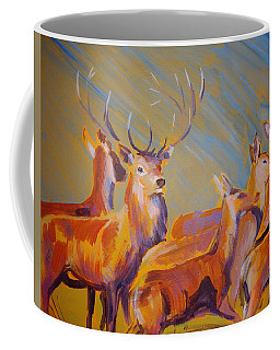 Stag And Deer Painting Coffee Mug