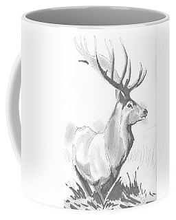 Stag Drawing Coffee Mug
