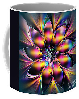 Coffee Mug featuring the digital art Stained Glass Flower by Greg Moores