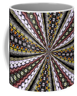 Coffee Mug featuring the photograph Stained Glass Kaleidoscope 1 by Rose Santuci-Sofranko