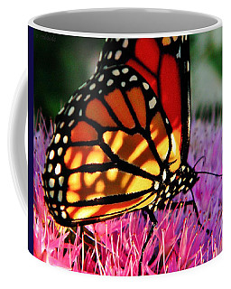 Stained Glass Monarch  Coffee Mug