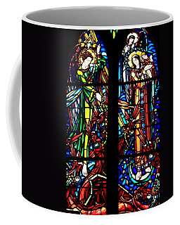 Stained Glass Window At Mont  Le Saint-michel Coffee Mug