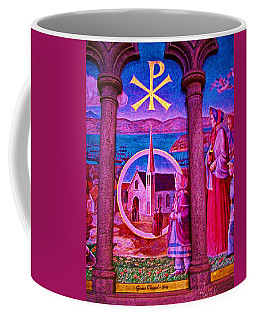 Stained Glass Window Of Grace Chapel In Grace Cathedral In San Francisco-california Coffee Mug