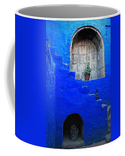 Staircase In Blue Courtyard Coffee Mug