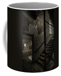 Stairs And Corridor Inside An Abandoned Asylum Coffee Mug