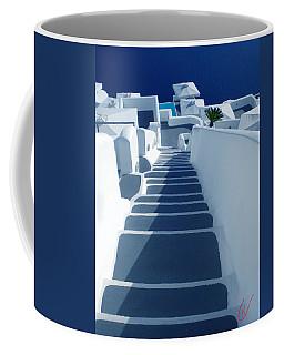 Stairs Down To Ocean Santorini Coffee Mug