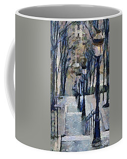Stairs With Lamps Coffee Mug