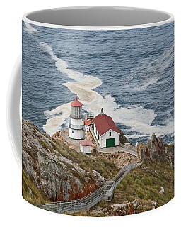 Stairway Leading To Point Reyes Lighthouse Coffee Mug by Jeff Goulden