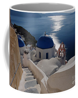 Stairway To The Blue Domed Church Coffee Mug