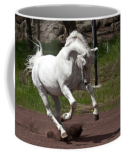 Coffee Mug featuring the photograph Stallion D4052 by Wes and Dotty Weber