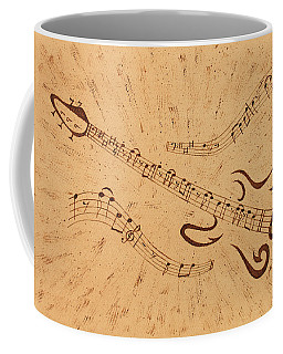 Stand By Me Guitar Notes Original Coffee Painting Coffee Mug