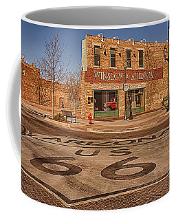 Standin' On The Corner Park Coffee Mug by Priscilla Burgers