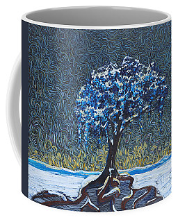 Standing Alone In The Snow Coffee Mug