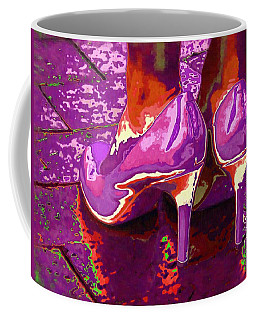 Standing In The Purple Rain Coffee Mug by Alec Drake