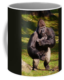 Coffee Mug featuring the photograph Standing Silverback Gorilla by Nick  Biemans