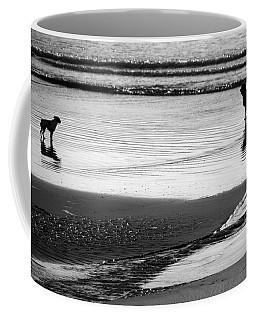 Standoff At The Beach Coffee Mug